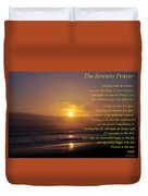 The Serenity Prayer Duvet Cover