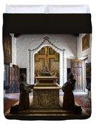 The Serra Cenotaph In Carmel Mission Duvet Cover