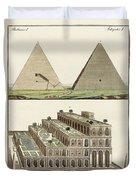The Seven Wonders Of The World Duvet Cover by Splendid Art Prints