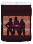 The Shadow Of The Grafitti Ladies Duvet Cover
