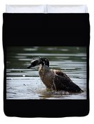 The Shake Off - Canadian Goose Duvet Cover
