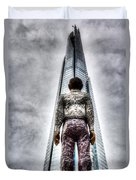 The Shard And Man Statue Duvet Cover