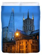 The Shard And Southwark Cathedral Duvet Cover