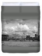 The Shard And Thames View Black And White Version Duvet Cover