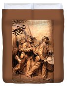 Saint Gaudens -- The Shaw Memorial's Right Side Duvet Cover