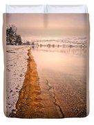 The Shore In Winter Duvet Cover