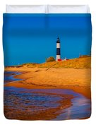 The Shore To Big Sable Duvet Cover