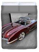 The Show Winner 1958 Corvette Duvet Cover