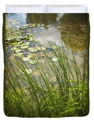The Side Of The Lily Pond Duvet Cover