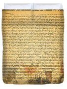 The Signing Of The United States Declaration Of Independence Duvet Cover