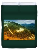 The Silent Mountains Duvet Cover
