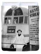 The Silver Streak Train Duvet Cover