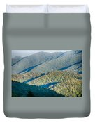 The Simple Layers Of The Smokies At Sunset - Smoky Mountain Nat. Duvet Cover