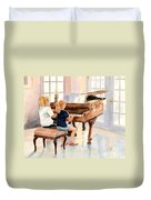 The Sister Duet Duvet Cover