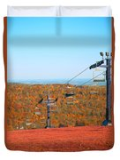 The Skiing Fields In Autumn Duvet Cover