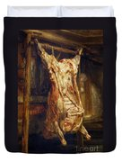 The Slaughtered Ox Duvet Cover by Rembrandt Harmenszoon van Rijn