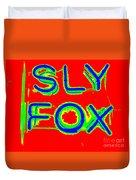 The Sly Fox Duvet Cover