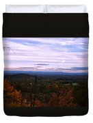 The Smokey Mountains From Hanging Rock State Park Duvet Cover
