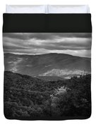 The Smokies In Black And White Duvet Cover