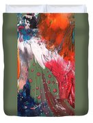 The Smoking Woman Duvet Cover