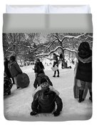The Snowboarders Duvet Cover