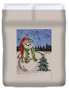 The Snowman's Tree Duvet Cover