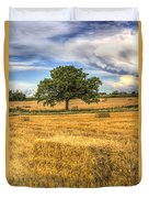 The Solitary Farm Tree Duvet Cover