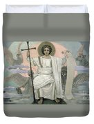 The Son Of God   The Word Of God Duvet Cover by Victor Mikhailovich Vasnetsov