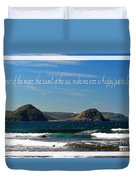 The Sound Of The Sea Duvet Cover