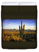 The Southwest Golden Hour  Duvet Cover