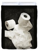 The Spare Rolls 1 - Toilet Paper - Bathroom Design - Restroom - Powder Room Duvet Cover