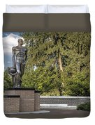The Spartan Statue At Msu Duvet Cover