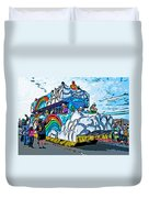The Spirit Of Mardi Gras Duvet Cover