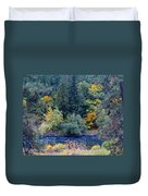 The Spokane River In The Fall Colors Duvet Cover