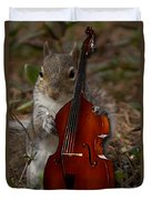 The Squirrel And His Double Bass Duvet Cover