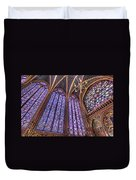 The Stained Glass Of La Sainte-chapelle Duvet Cover