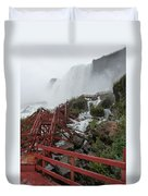 The Stairs To The Cave Of The Winds - Niagara Falls Duvet Cover