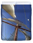 The Star Of India. Mast And Sails Duvet Cover