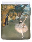 The Star Or Dancer On The Stage Duvet Cover