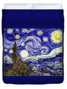 The Starry Night Reimagined Duvet Cover