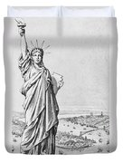 The Statue Of Liberty New York Duvet Cover