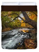 The Still River Square Duvet Cover by Bill Wakeley