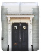 The Stockade Door In Schenectady New York Duvet Cover by Lisa Russo