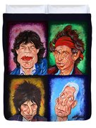 The Rolling Stones Duvet Cover by Dan Haraga