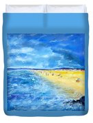 The Storm Arrives At The Beach Duvet Cover