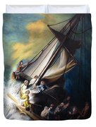 The Storm On The Sea Of Galilee Duvet Cover