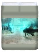 The Storyteller - A Fish Tale By Sharon Cummings Duvet Cover