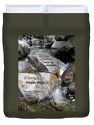 The Strain Of Life... - Yosemite Duvet Cover