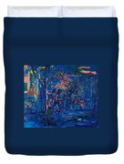 The Street Cafe Oil On Canvas Duvet Cover