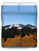 The Sugar Coated Mountains Duvet Cover